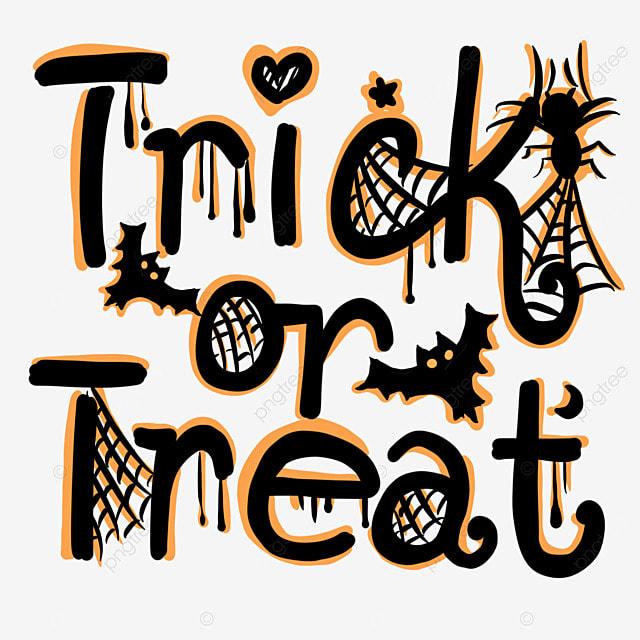 black orange halloween spider web word art