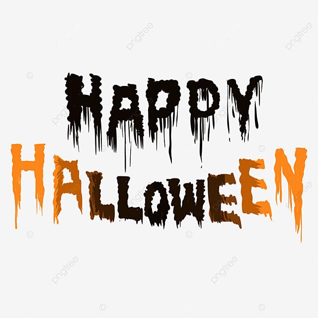 color halloween orange gradient word art