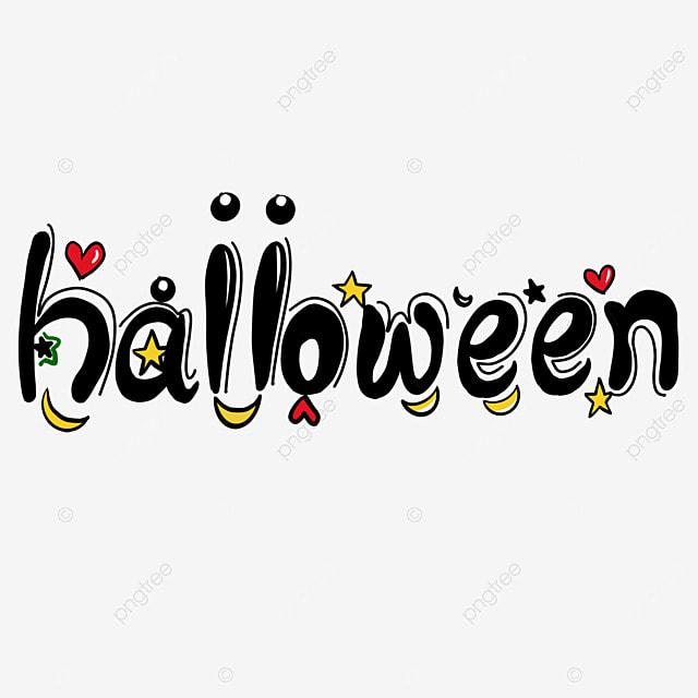 cute cartoon love moon halloween word art