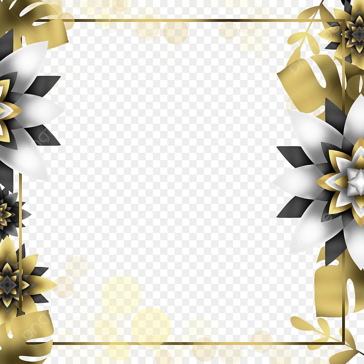 Modern Golden Wedding Border Frame Clip Art Wedding Frame Png Transparent Clipart Image And Psd File For Free Download
