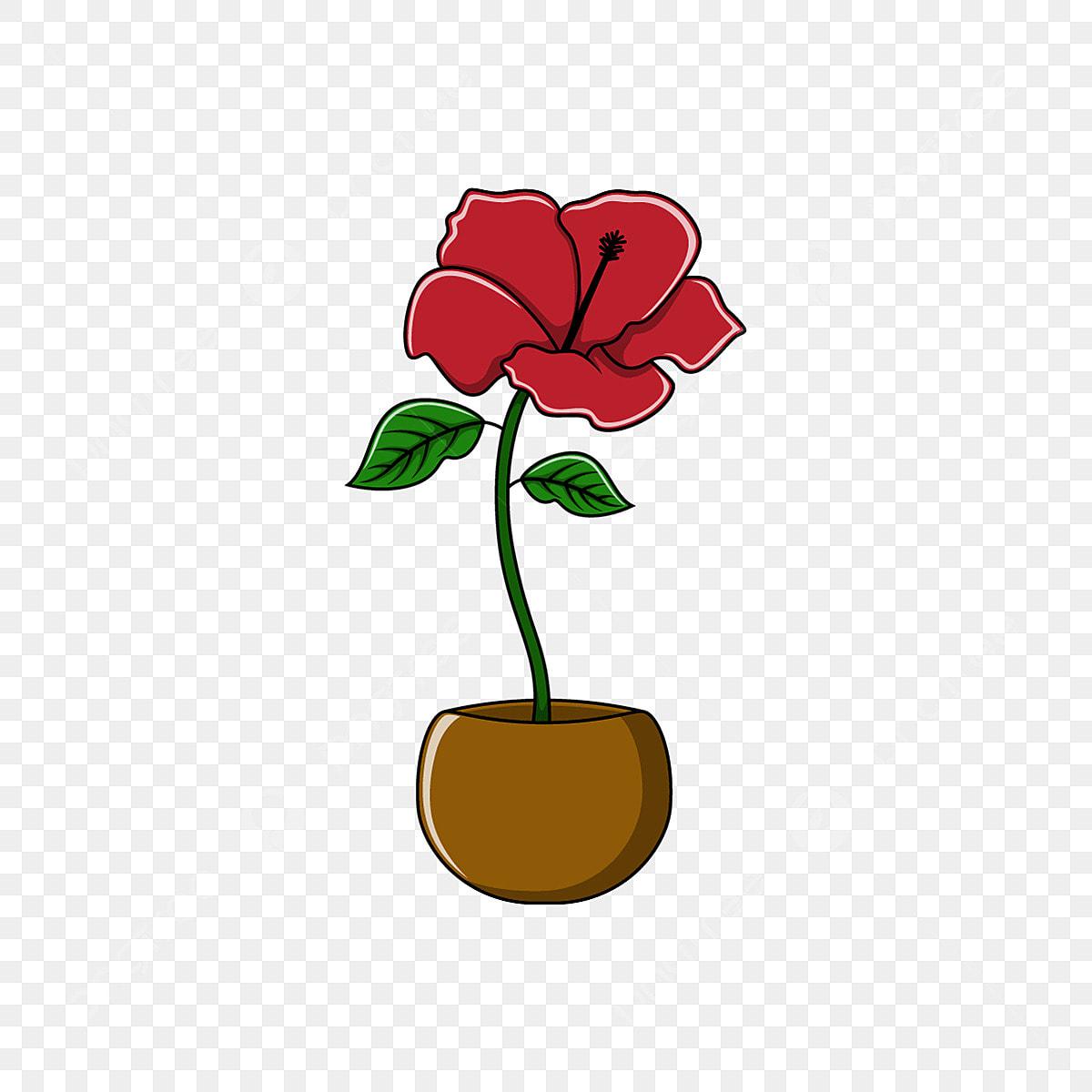 Gambar Ilustrasi Kartun Bunga Kembang Sepatu Kembang Sepatu Floral Kartun Png Dan Vektor Dengan Latar Belakang Transparan Untuk Unduh Gratis