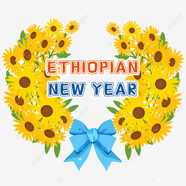 ethiopian new year blue bow lace