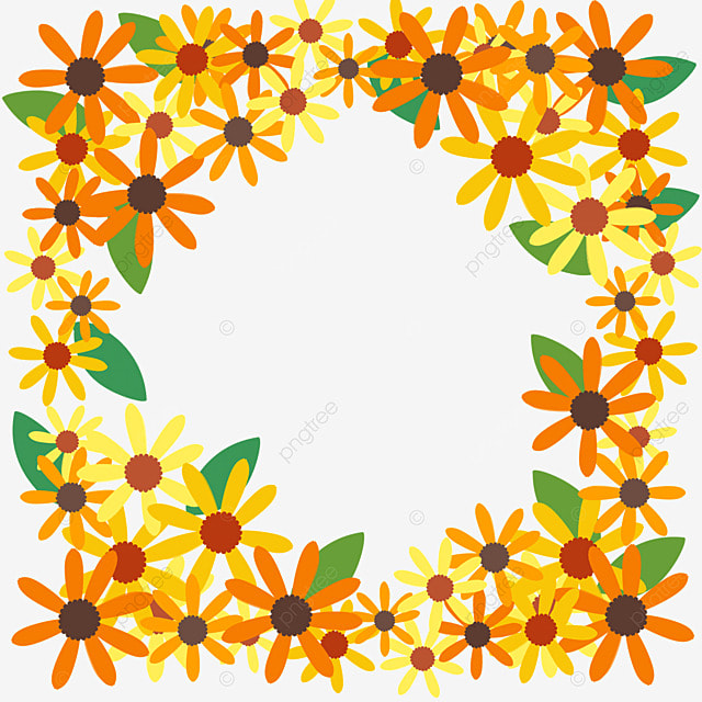 ethiopian new year borders of different colors flowers