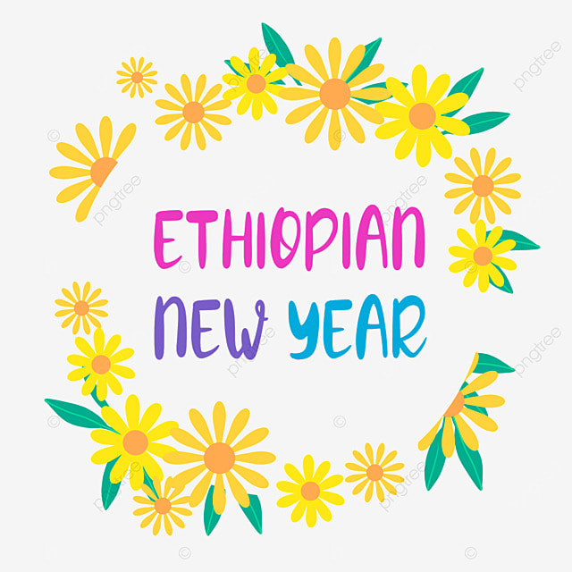 ethiopian new year lovely yellow flower border