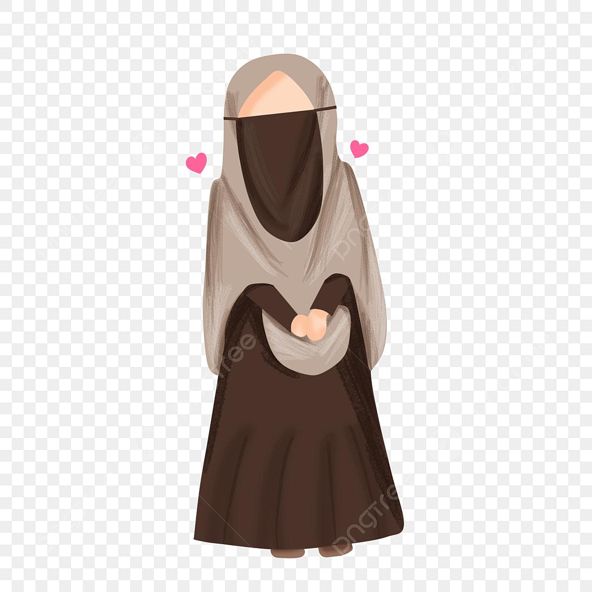 Muslimah Bercadar, Muslimah, Islam, Syar'i Fichier PNG et PSD pour ...