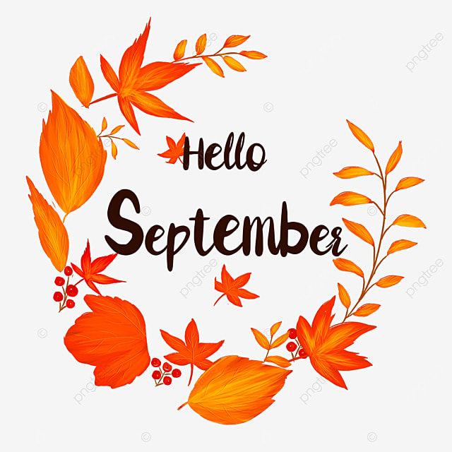 hello september maple leaf decoration ring