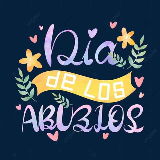 brazilian grandparents day watercolor font