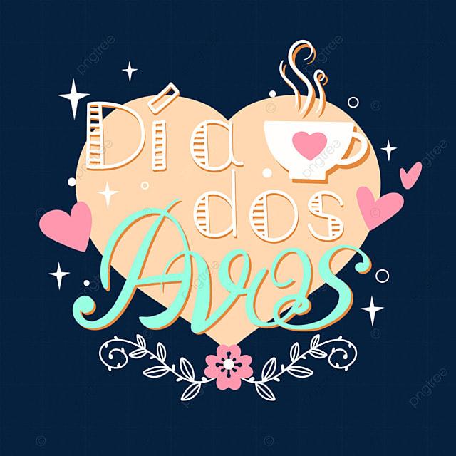 celebrate brazilian grandparents day love font