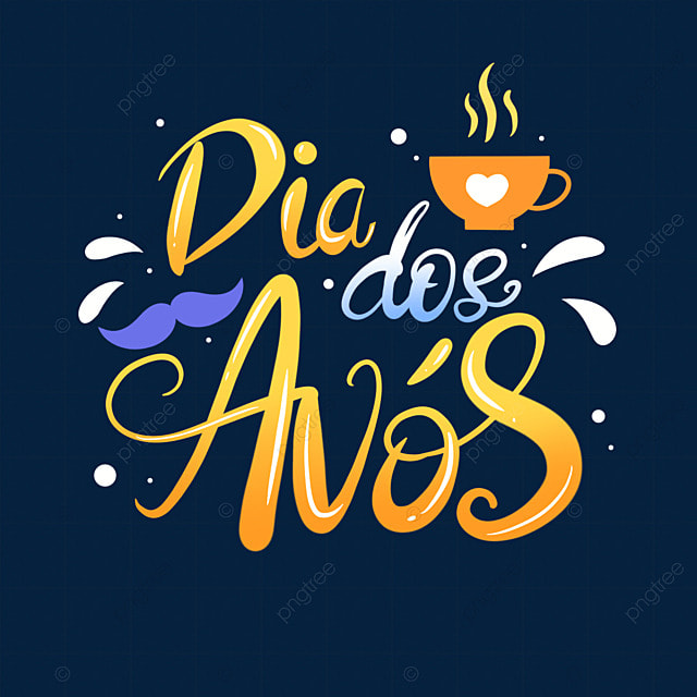 gradient font typography for grandparents day in brazil