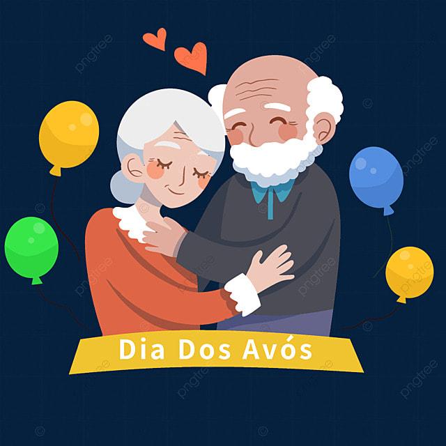 brazilian grandparents day balloons