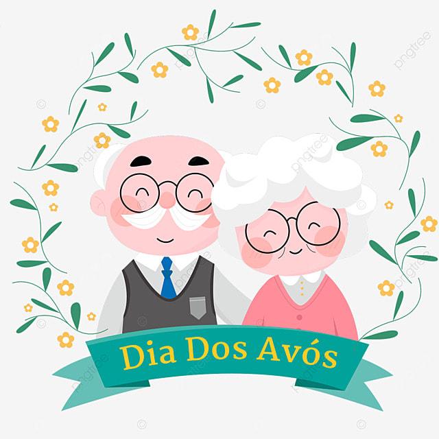 brazilian grandparents day green wreath