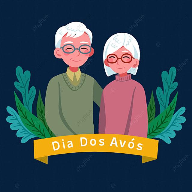 white hair taking photos on brazilian grandparents day