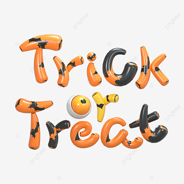 3d orange halloween font