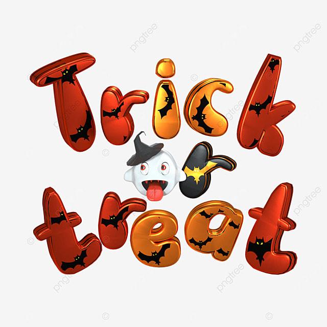 3d red halloween horror font