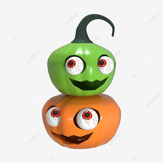 halloween 3d scary pumpkin