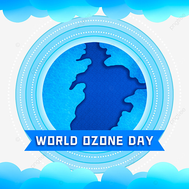 world ozone day beautiful blue illustration