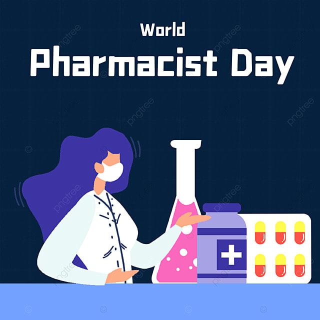 world pharmacist day character medicine