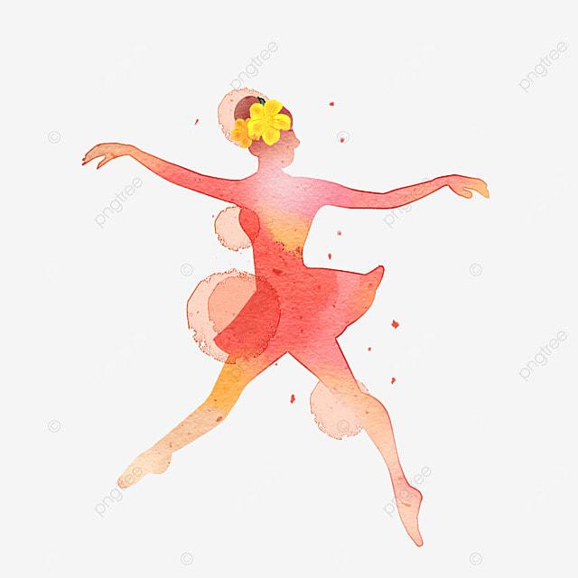ballerina girl dancing watercolor painting