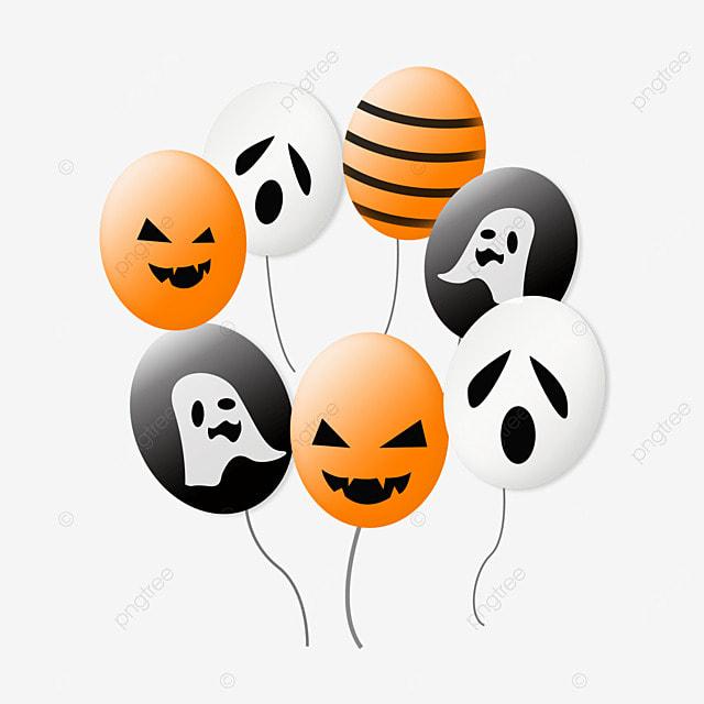 cartoon style halloween monster balloon