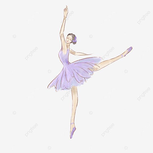 purple skirt ballerina