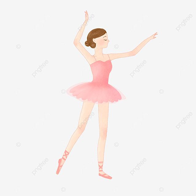 watercolor ballet dancer