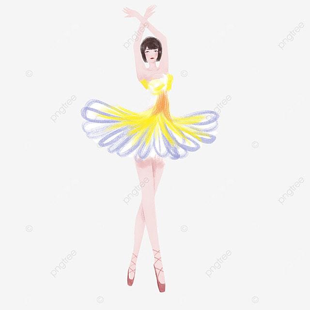 watercolor ballet female dancer