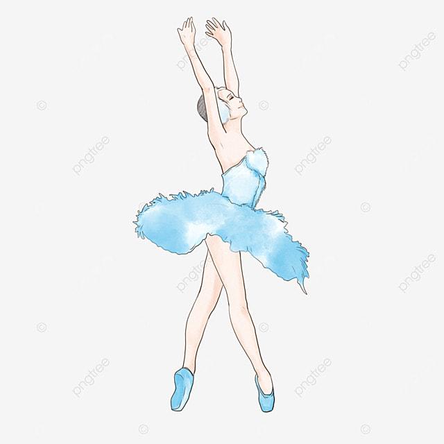 watercolor sumi ballerina girl