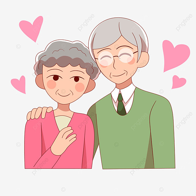 grandfather hugs grandmother on japanese respect for the aged day