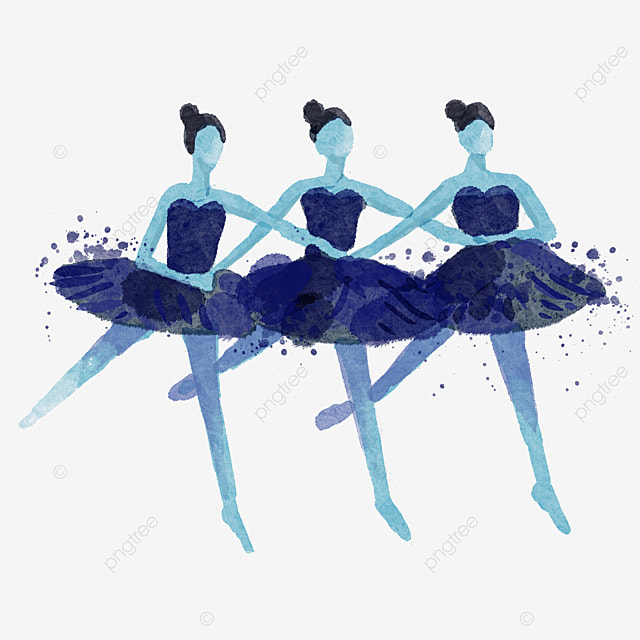 ballerina multiplayer watercolor style performance