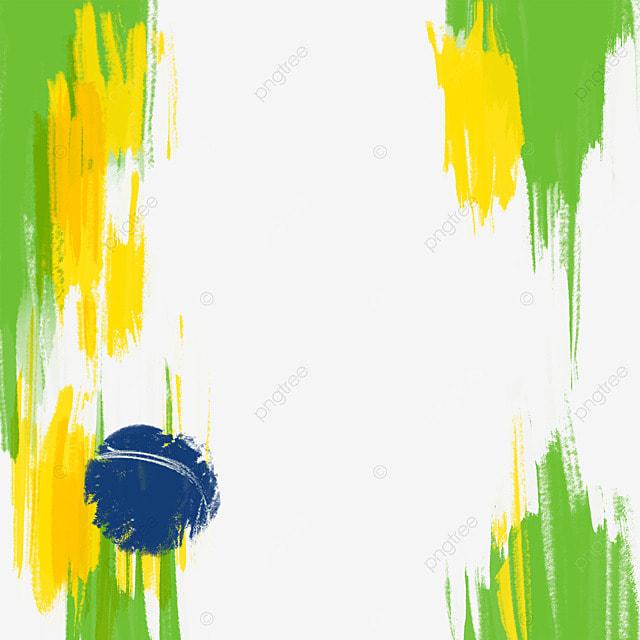 brush brazil flag color pattern creative irregular