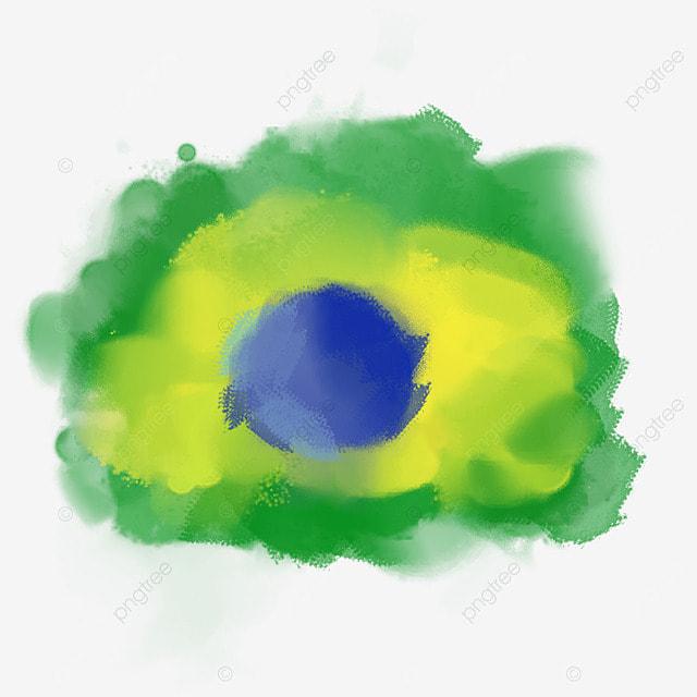 brush brazil flag color smudge