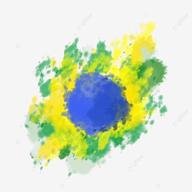 brush brazil flag color splash