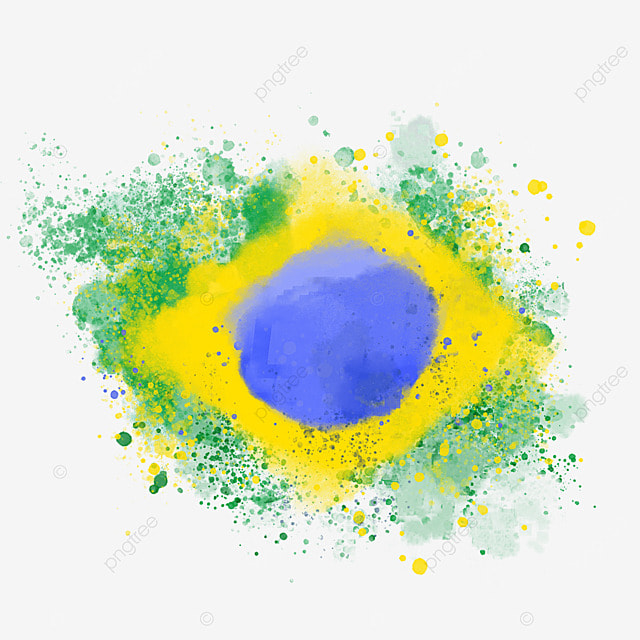 brush brazil flag color spray art