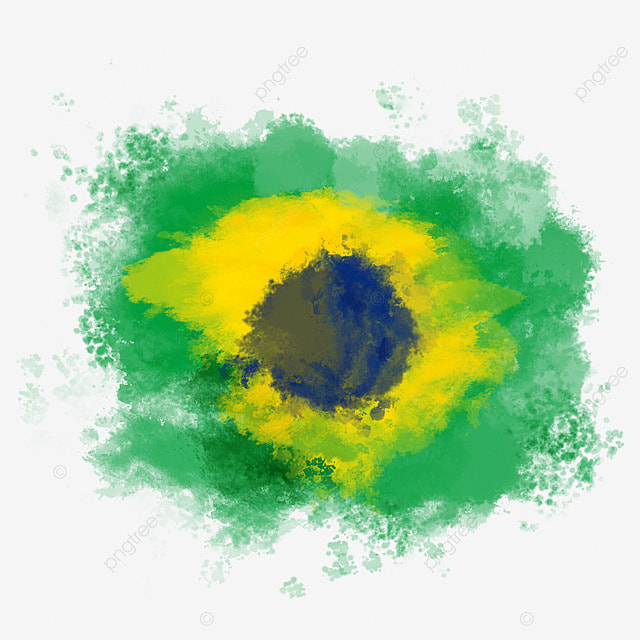 brush brazil flag colors smudge abstract