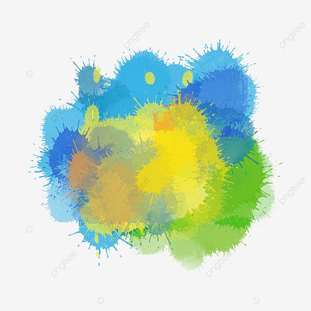 brush brazil flag colors splash watercolor