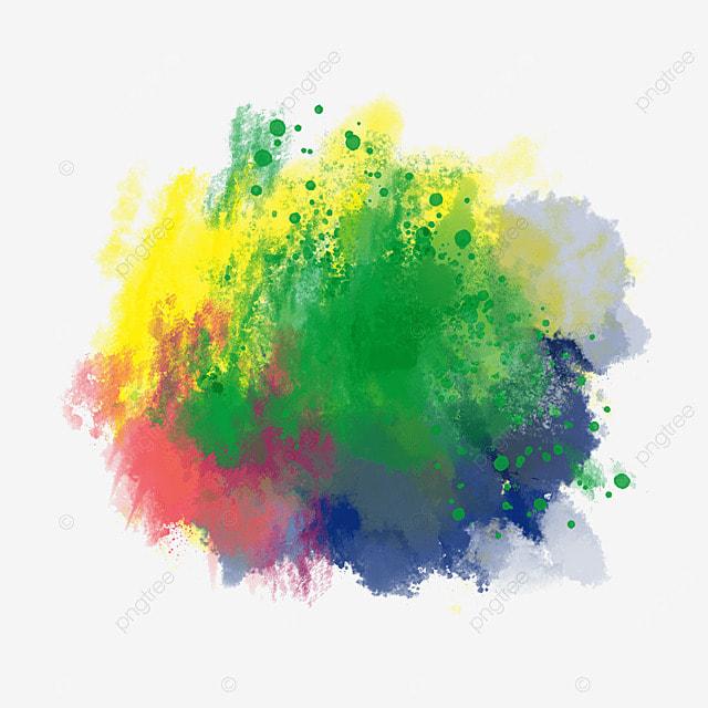 brushstroke brazil flag colors colorful art