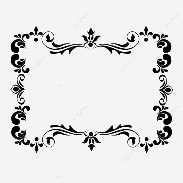 decorative border black and white linear draft classical and elegant