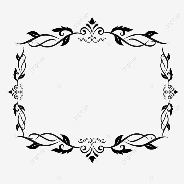 decorative border black and white linear draft pattern totem