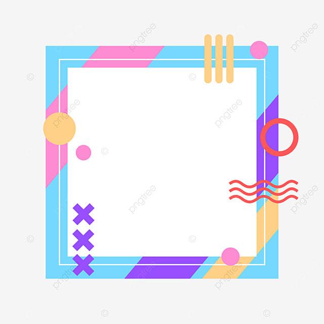 decorative border blue geometric