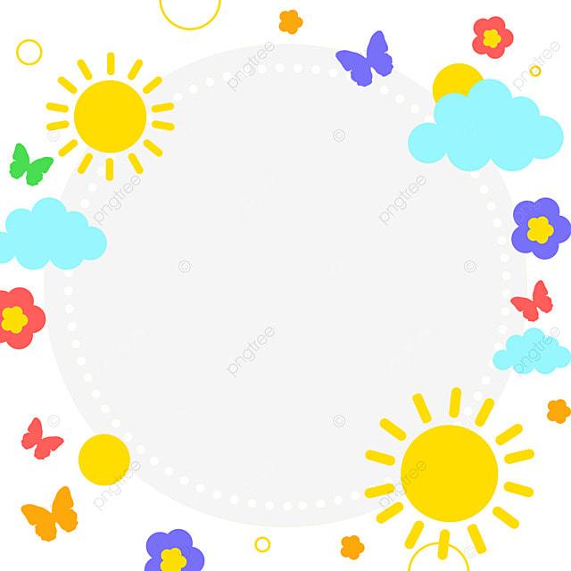 decorative border cartoon clouds