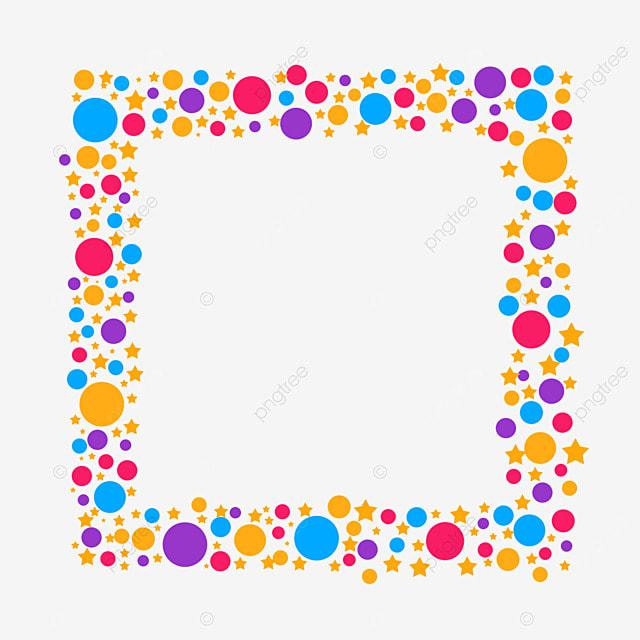 decorative border colorful dots
