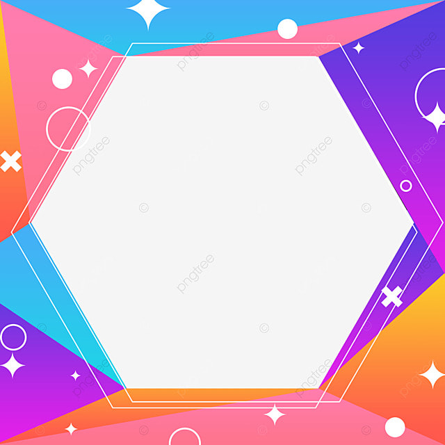 decorative border colorful geometric