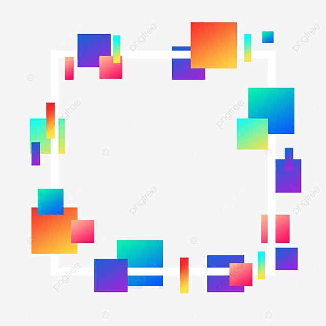 decorative border square geometric gradient