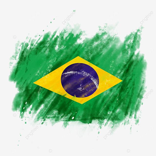 flag brazil colored brush irregular creative