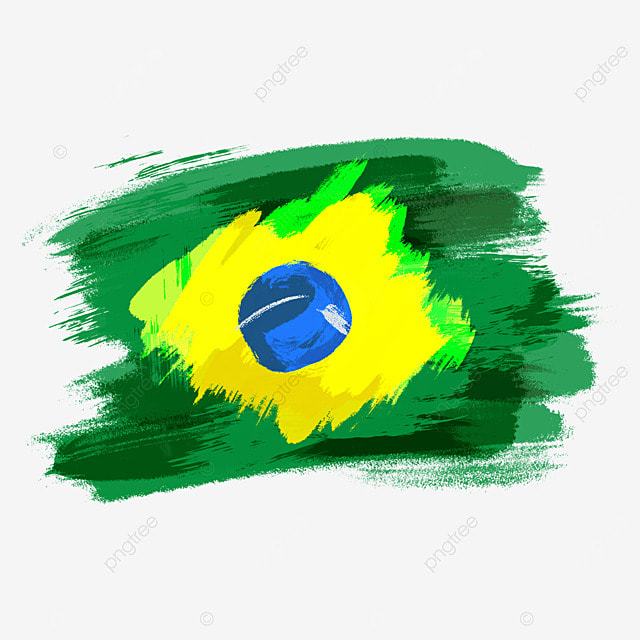 flag brazil colorful brush watercolor