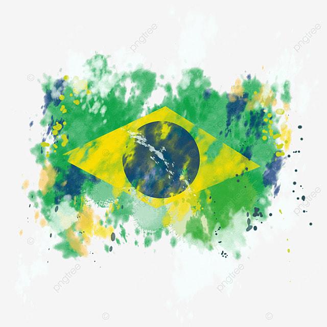 flag brazil colors brush broken abstract