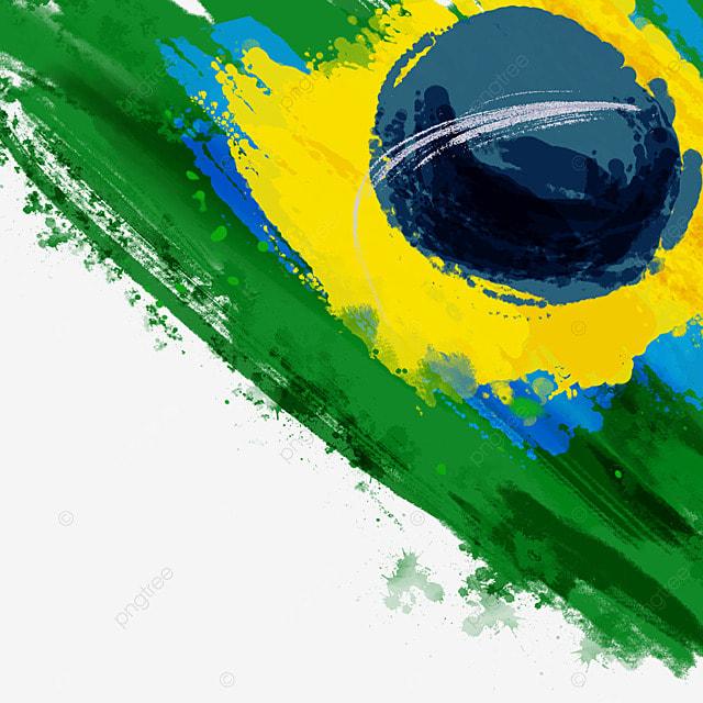 flag brazil splash brush stroke watercolor creative
