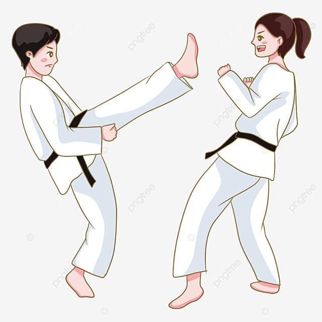 karate black belt martial arts figure