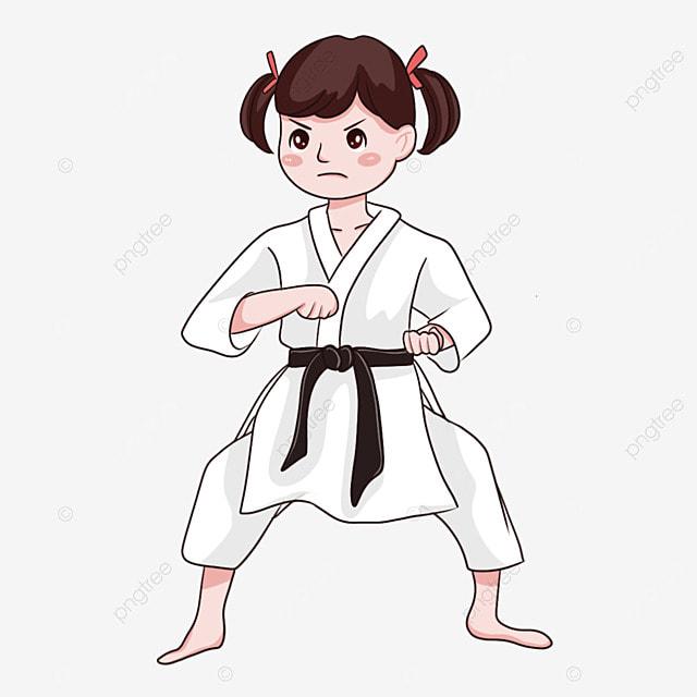 karate female black belt martial arts
