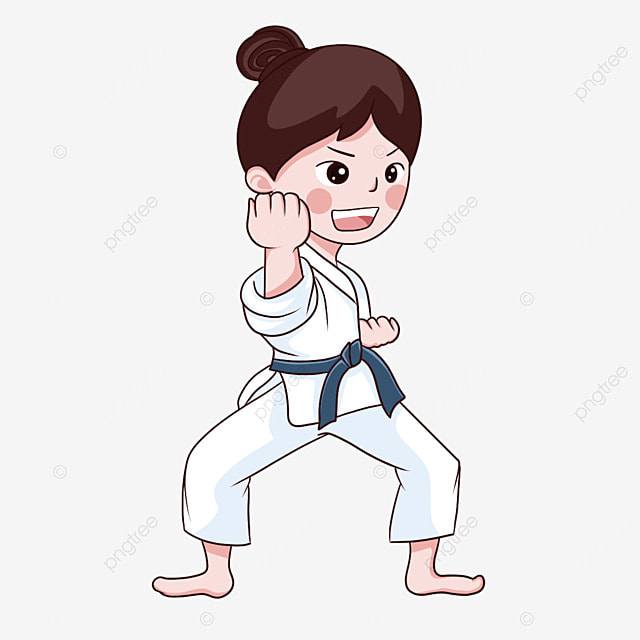 karate female sports athlete